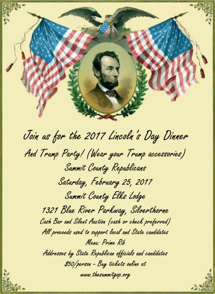 Lincoln Day Republican Party 2017 Flyer